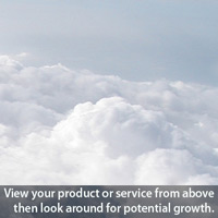 Champlain Marketing - View your product or service from above