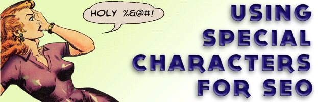Using special characters for SEO