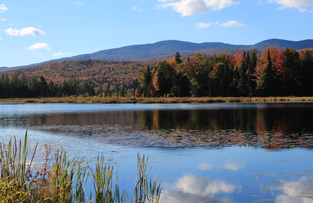Belvidere Pond along route 118 in Eden, Vermont