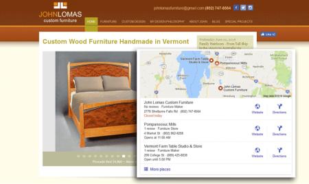 John Lomas Custom Funiture - Vermont
